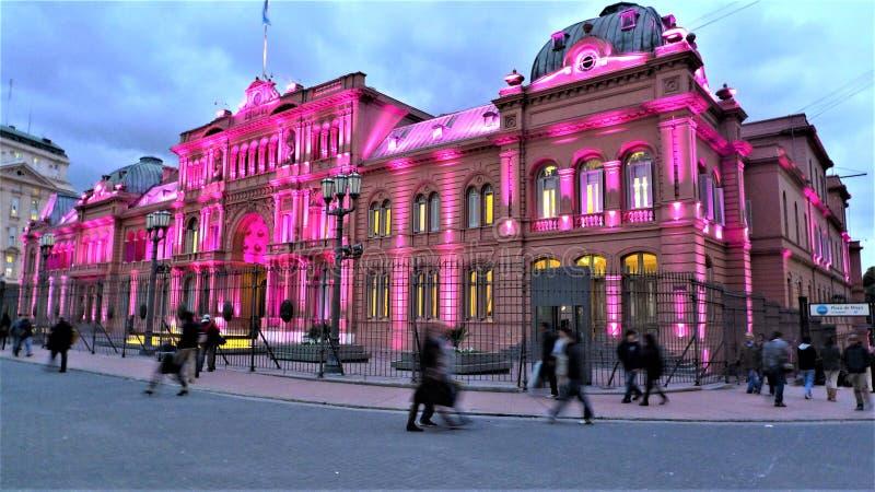 Buenos Aires a casa Rosada fotografia de stock