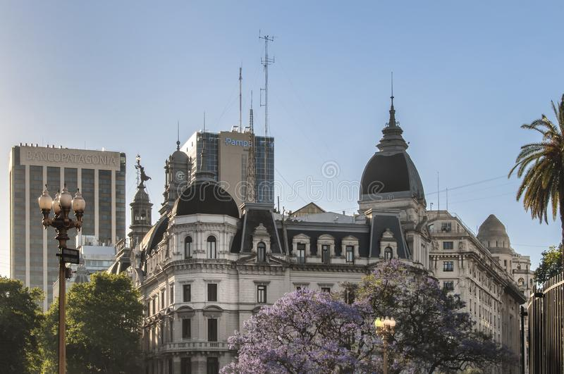 Buenos Aires City building detail view. Buenos Aires is the capital city of Argentina in South America. Buenos Aires combines faded European grandeur with Latin royalty free stock photography