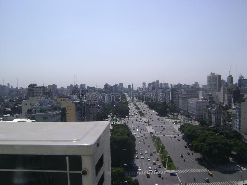 Buenos Aires City. City of Buenos Aires, 9 of July Avenue stock photo