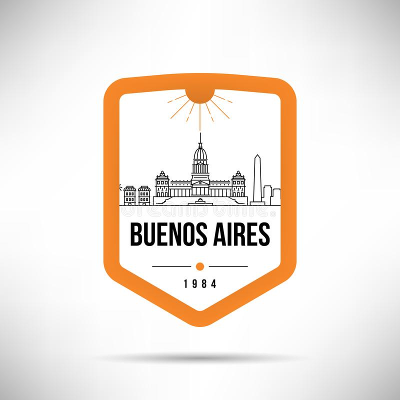 Buenos Aires City Modern Skyline Vector Template royalty free illustration