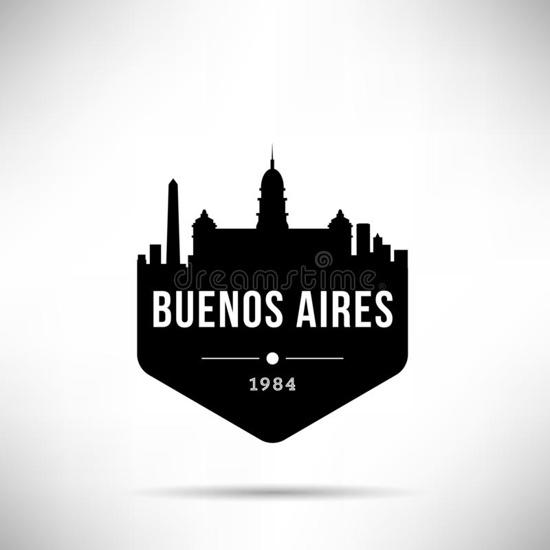 Buenos Aires City Modern Skyline Vector Template vector illustration