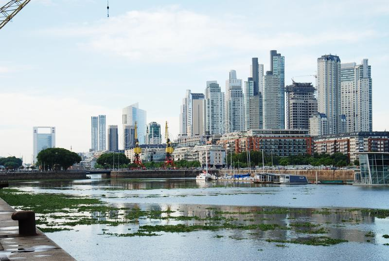Buenos Aires Cityscape, Capital City of Argentina. Day view of Puerto Madero in Buenos Aires Argentina stock photography
