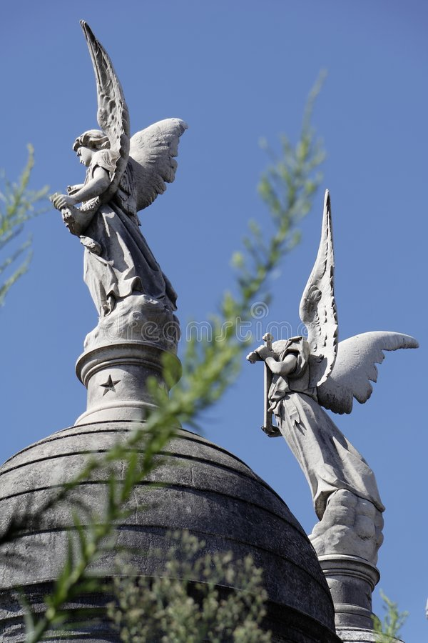 buenos aires cmentarza recoleta aniołów zdjęcia royalty free