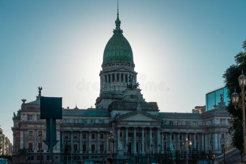 Buenos Aires, construção do congresso nacional imagem de stock
