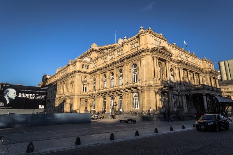 Buenos Aires - 1 de julio de 2017: Teatro de los dos puntos en Buenos Aires, la Argentina imagenes de archivo