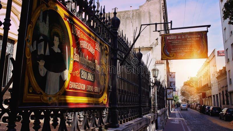 Buenos Aires, distrito de San Telmo imagens de stock royalty free