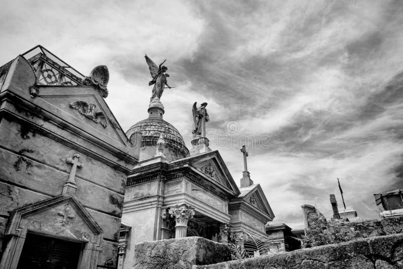 BUENOS AIRES JANUARI 30, 2016 - LaRecoleta kyrkogård som lokaliseras i den Recoleta grannskapen arkivbilder