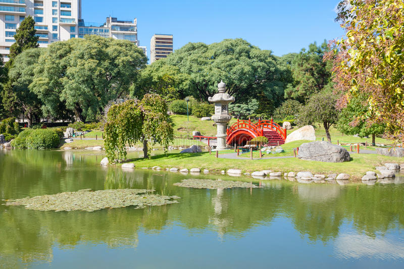 Buenos Aires japanträdgårdar fotografering för bildbyråer