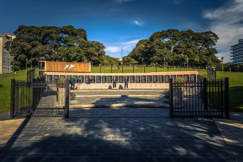 Buenos Aires - July 01, 2017: Memorial to battle of Falkland Islands in Buenos Aires, Argentina stock photography