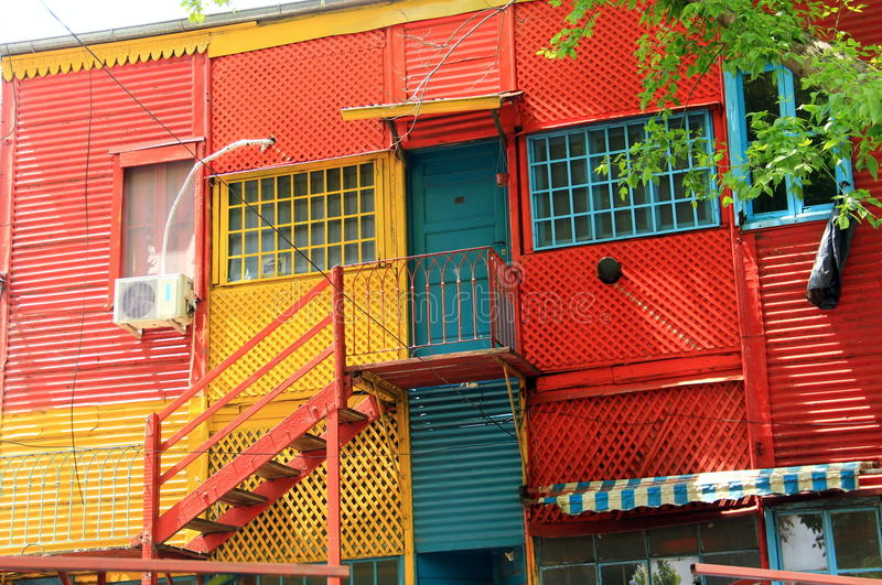 Buenos Aires, La Boca, Caminito. Caminito (little walkway or little path in Spanish) is a street museum and a traditional alley, located in La Boca, a royalty free stock photos