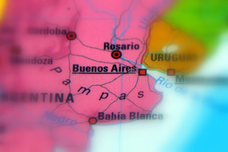 Buenos Aires, la capital y la mayoría de la ciudad populosa de la Argentina imágenes de archivo libres de regalías