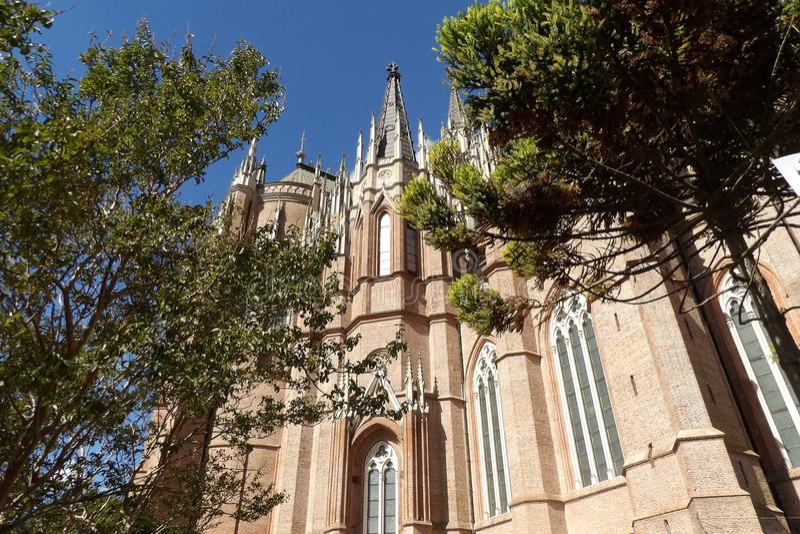 Buenos Aires La Plata Cathedral. Catholic temple. Catedral de la Inmaculada concepcion. Catedral de La Plata. Neogothic style royalty free stock images