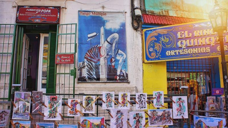 Buenos Aires, landmark El Caminito District stock images