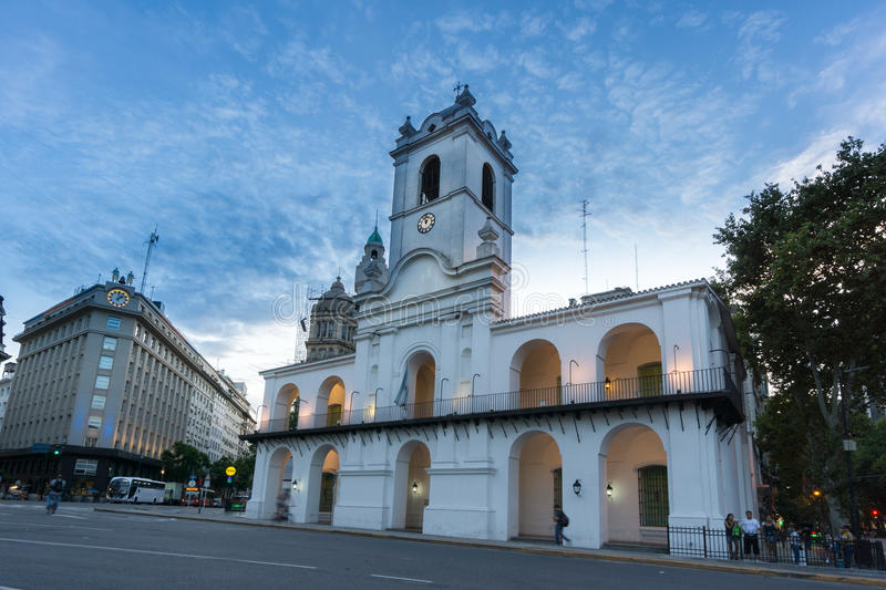 BUENOS AIRES, MARCH 3, 2016 - The Buenos Aires Cabildo royalty free stock image