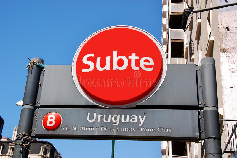 The Buenos Aires Metro stock image