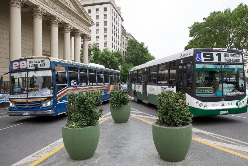 Buenos aires Metrobus, Argentinië royalty-vrije stock afbeeldingen