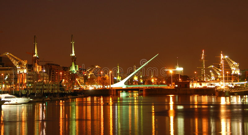 Buenos Aires by Night royalty free stock image