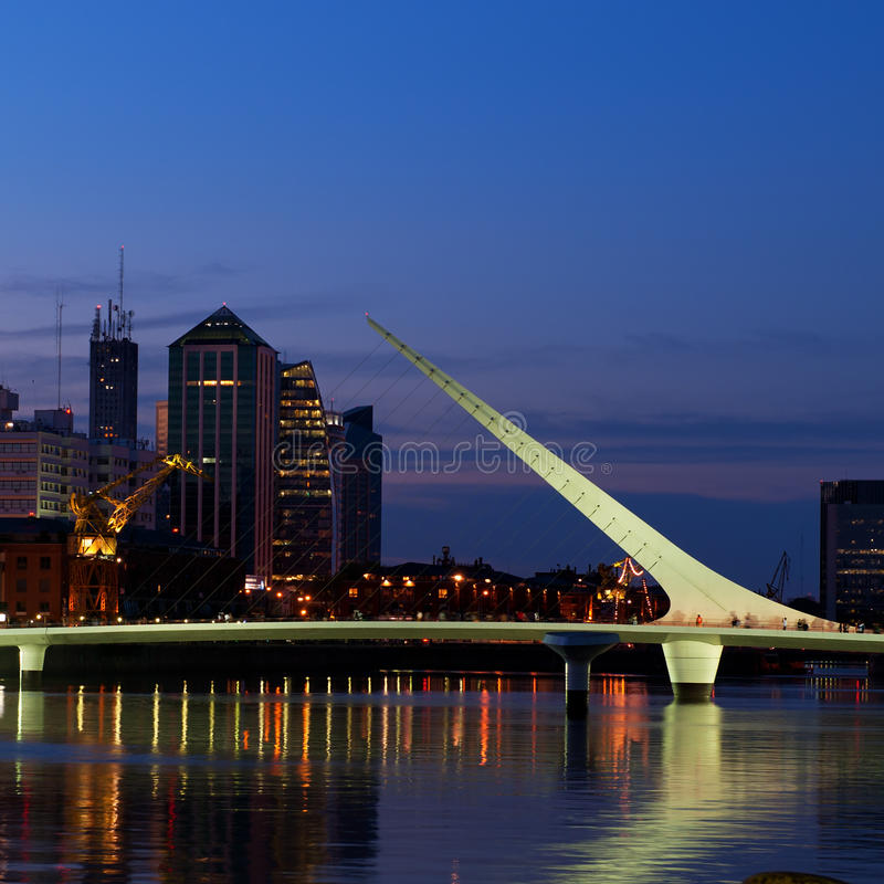 Buenos Aires night view. stock photos