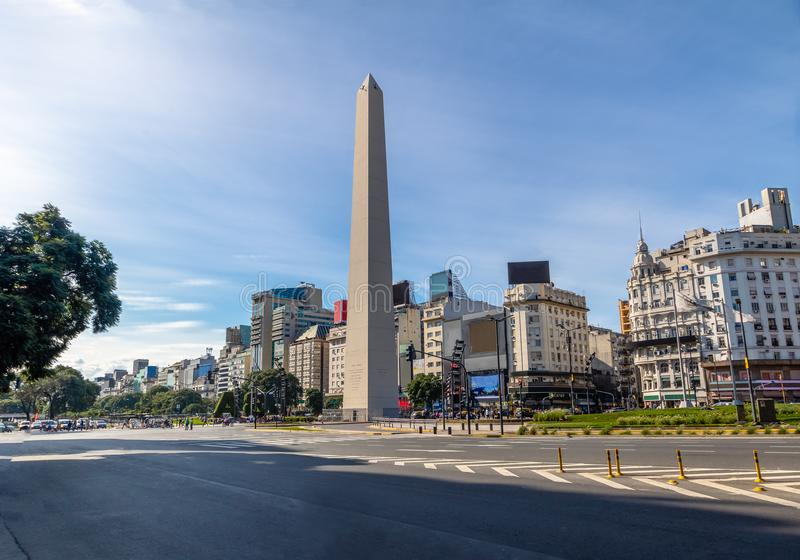 Buenos Aires Obelisk at Plaza de la Republica - Buenos Aires, Argentina. Buenos Aires Obelisk at Plaza de la Republica in Buenos Aires, Argentina stock photography