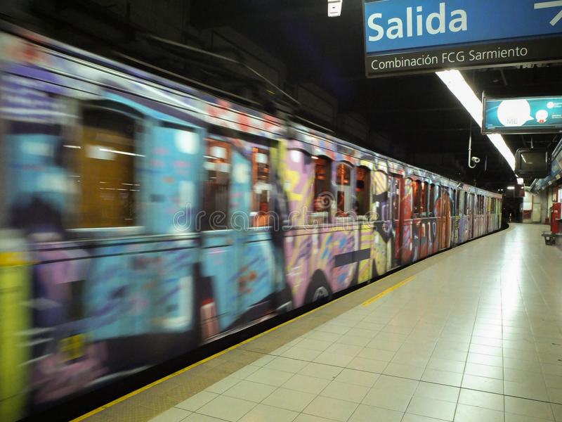 Buenos Aires Old Subway stock photo