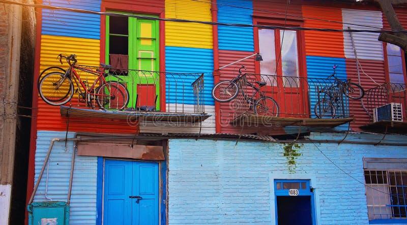 Buenos Aires område för gränsmärkeEl Caminito arkivfoto