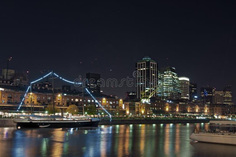Buenos Aires pejzaż miejski - Puerto Madero obraz stock