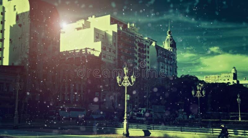 Buenos Aires, plaza du congrès national photos libres de droits