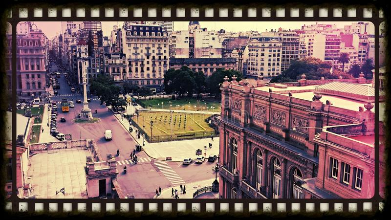 Buenos Aires. Plaza Tribunales - Buenos Aires - Argentina royalty free stock image
