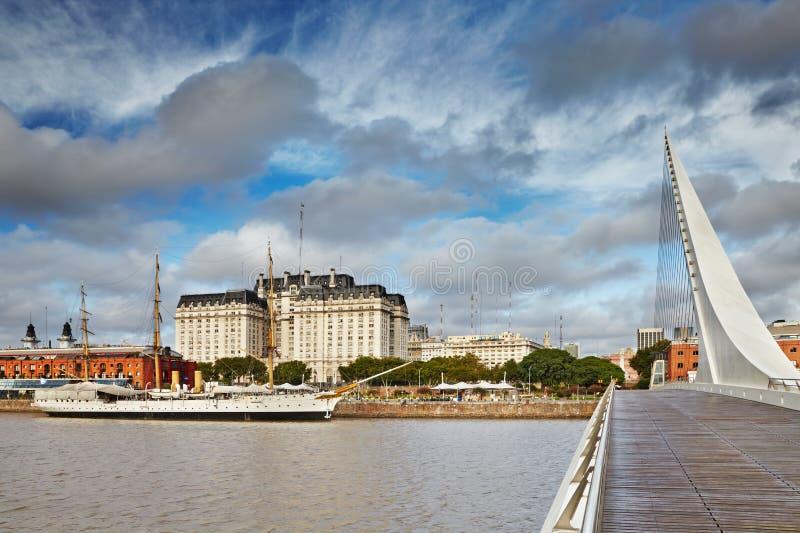 Buenos Aires Puerto Madero område arkivbild