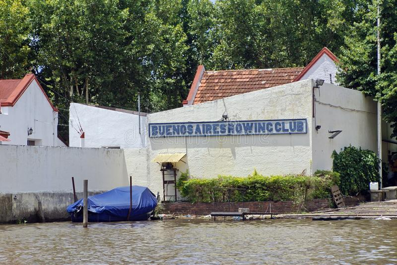 Buenos Aires Rowing Club in Tigre, Argentina stock photography