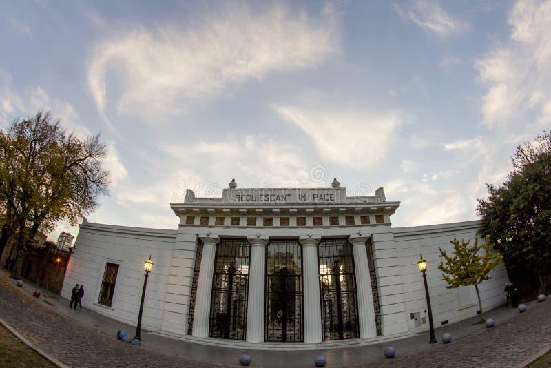 Buenos Aires stan, Argentyna 06/24/2014/ Losu Angeles Recoleta cmentarz De Los angeles Recoleta lub Cementerio obraz royalty free