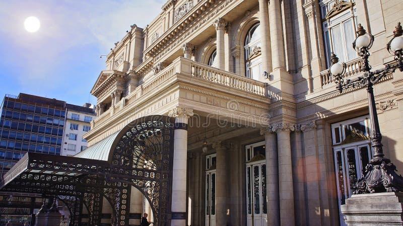 Buenos Aires teaterTeatro kolon royaltyfri bild