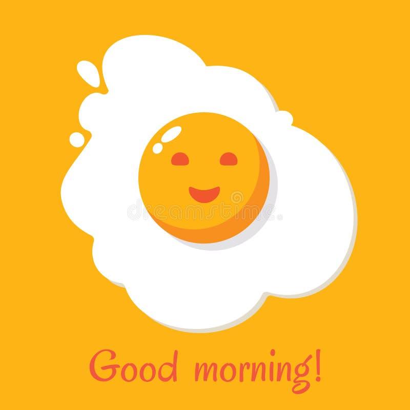 Buenos días Desayuno del huevo libre illustration