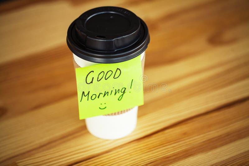 Buenos días Tiempo del café imágenes de archivo libres de regalías