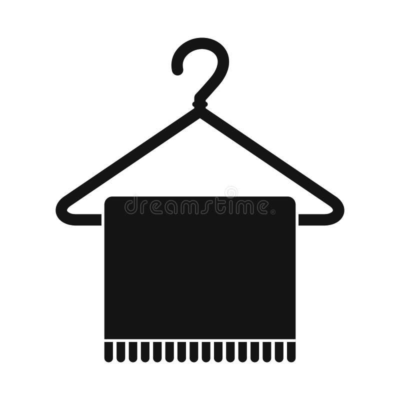 Bufanda en icono de la capa-suspensión libre illustration