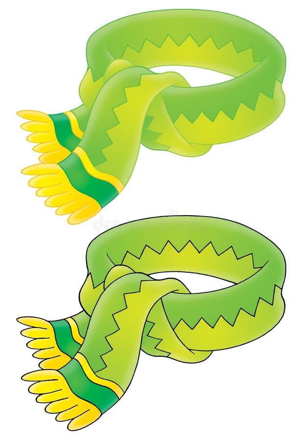 Bufanda verde stock de ilustración