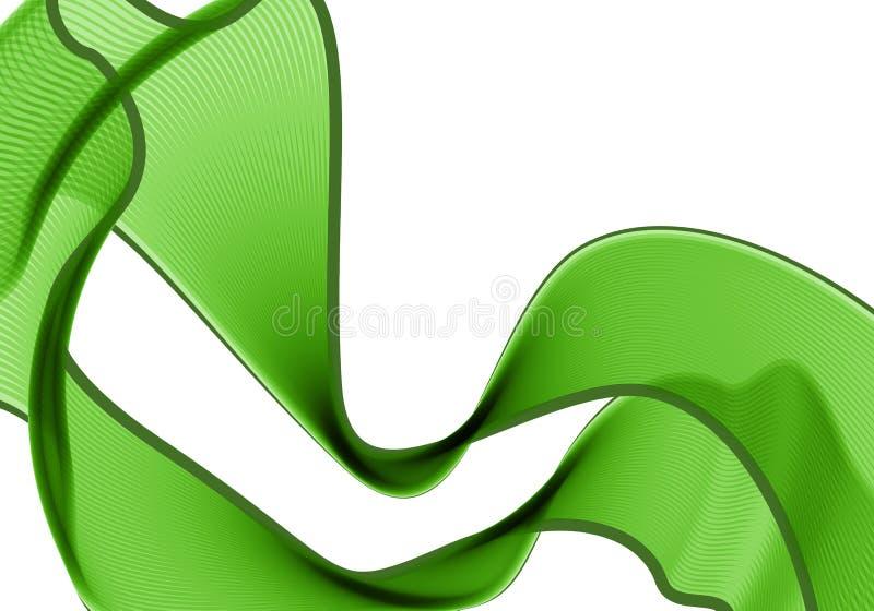 Bufanda verde ilustración del vector