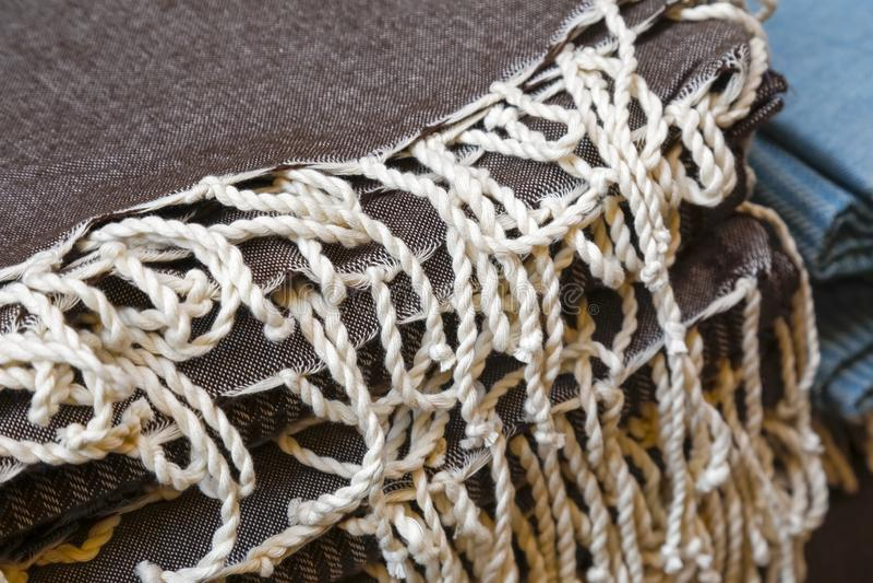 Bufandas con las franjas imágenes de archivo libres de regalías
