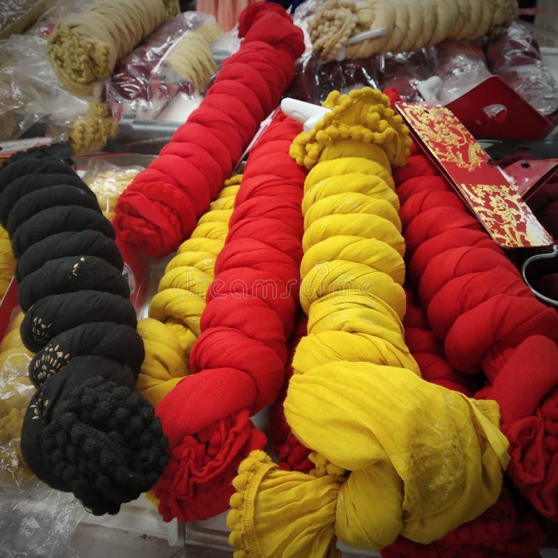 Bufandas de las señoras foto de archivo libre de regalías
