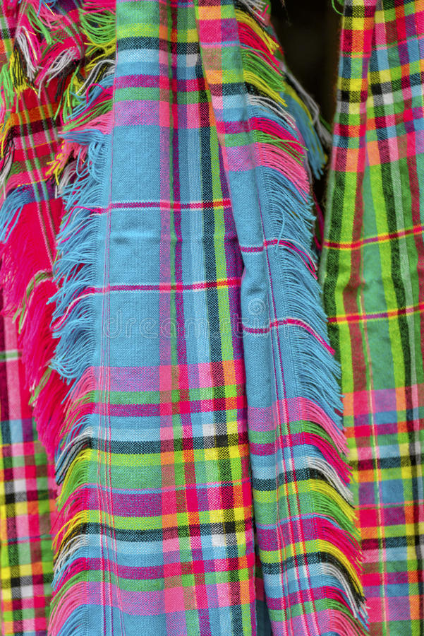 Bufandas etnic coloridas fotografía de archivo libre de regalías