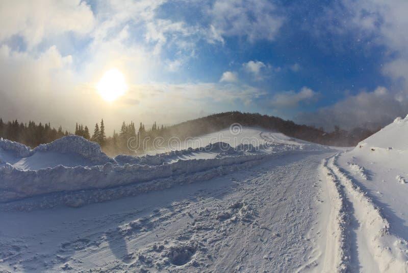 Bufera di neve fotografie stock libere da diritti