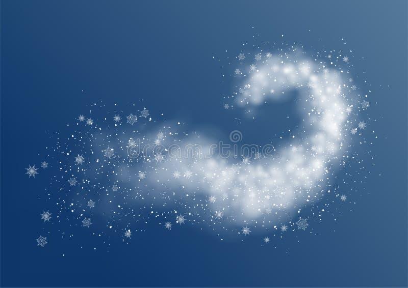 Bufera di neve astratta della neve royalty illustrazione gratis