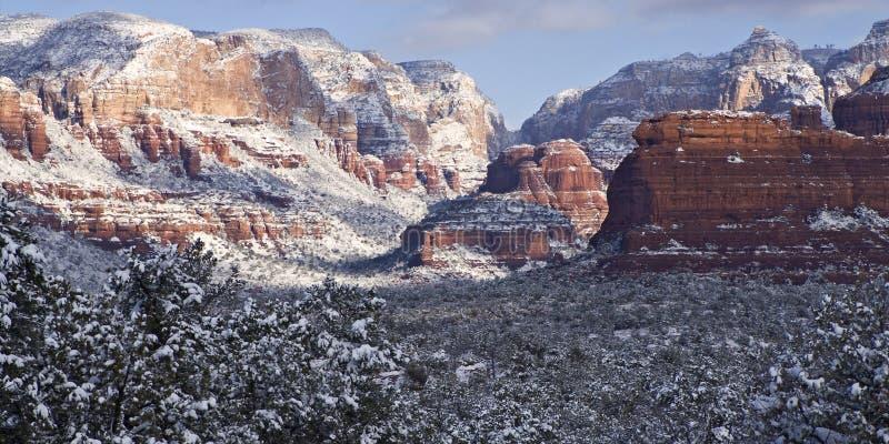 Bufera di neve Sedona ad ovest fotografia stock libera da diritti