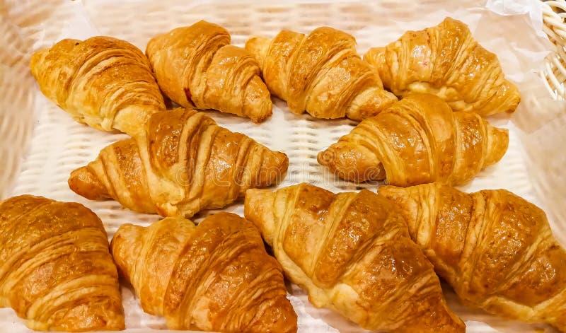 Bufet, Croissant, ?niadanie, Piec ciasto rzecz, chleb obraz royalty free