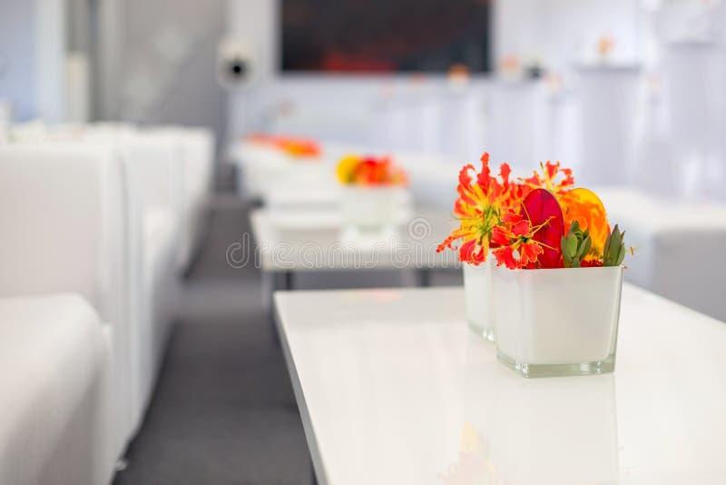 Bufet dekoracj kwiaty fotografia royalty free