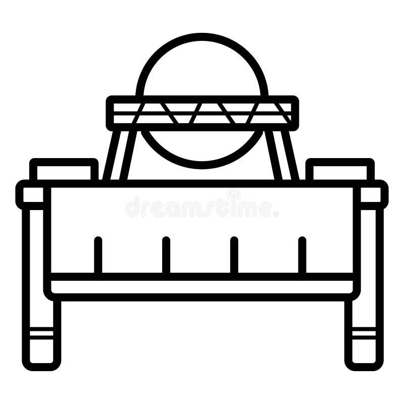 Bufet jaźni usługi restauracja ilustracja wektor