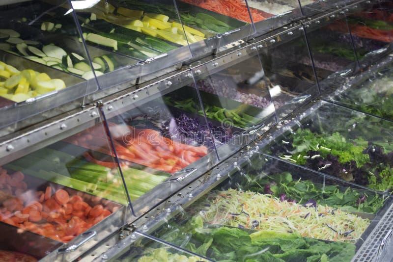 Bufete da salada fotografia de stock