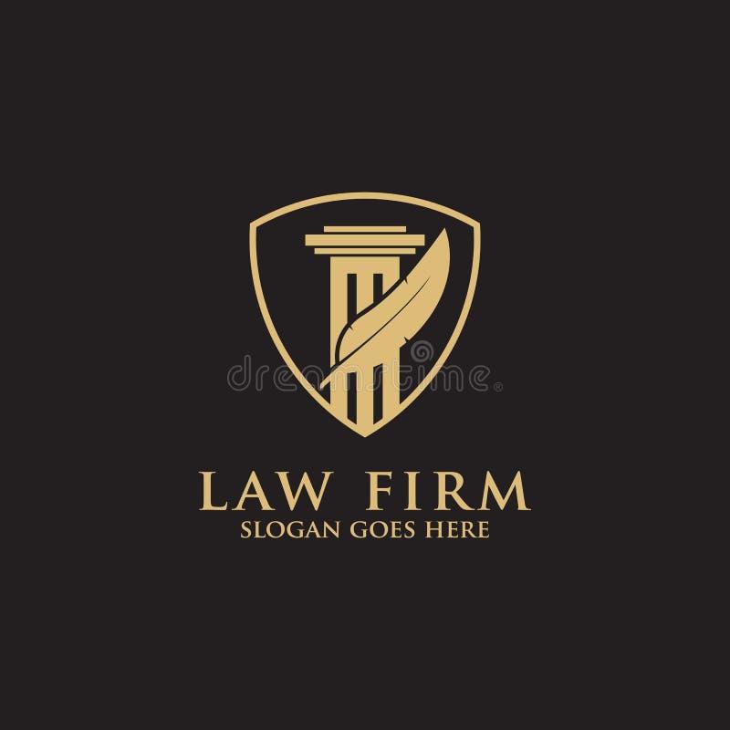 Bufete de abogados vector limpio y listo de Logo Inspiration de la pluma moderna - del logotipo foto de archivo libre de regalías