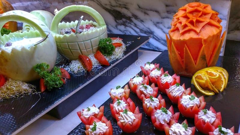 Bufete delicioso com petiscos fotos de stock royalty free
