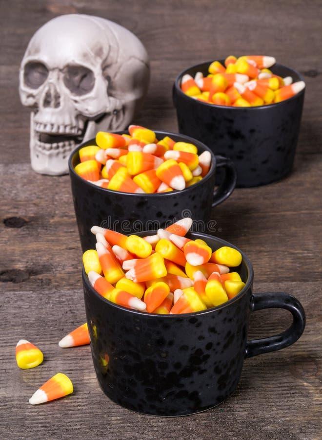 Bufete do milho de doces de Halloween fotografia de stock royalty free